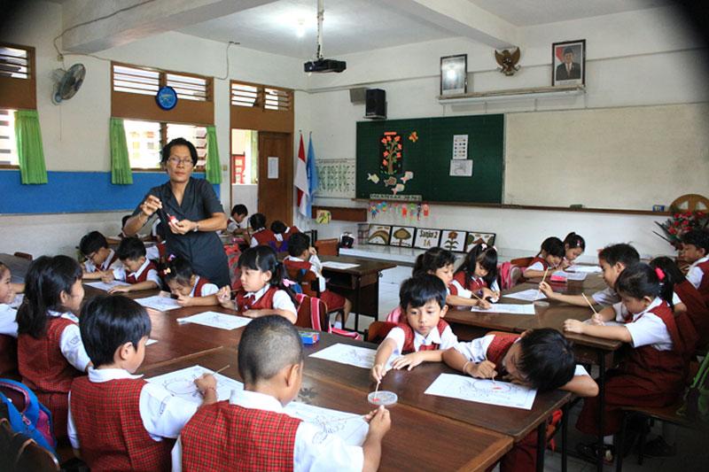 Ruang Belajar SD St Yoseph 2 Denpasar